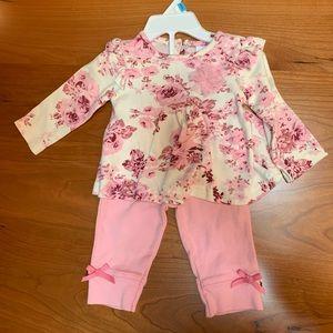 Laura Ashley Baby Girl Tunic and Pants set